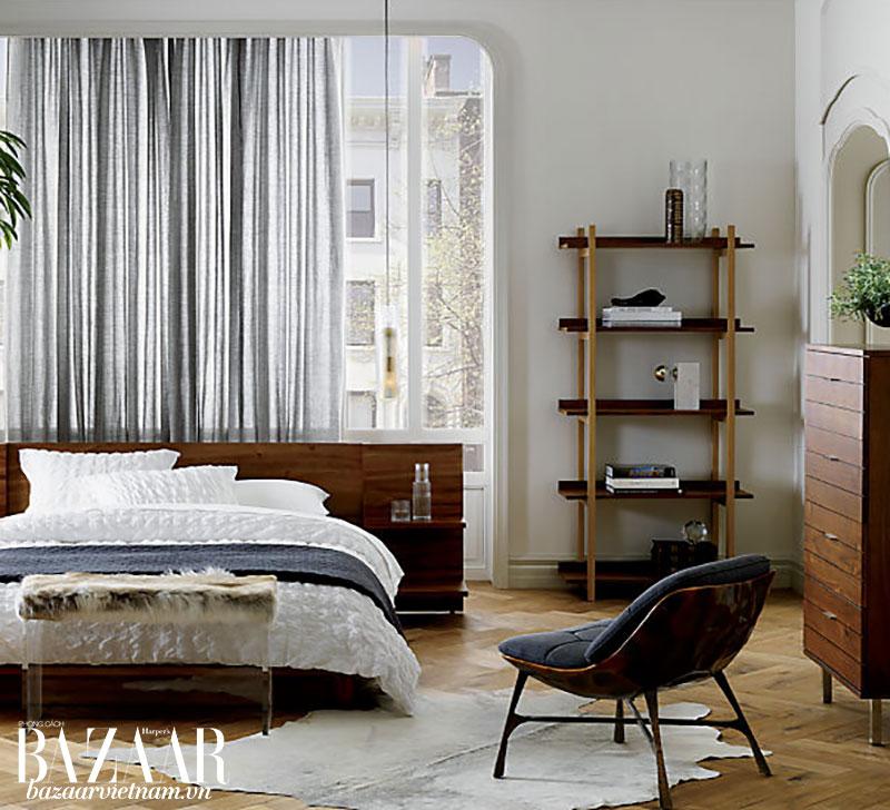 Phòng ngủ phong cách Bắc Âu. Ảnh: CB2