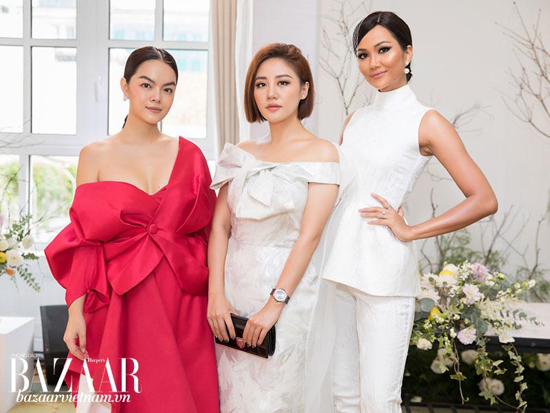 Ca sỹ Phạm Quỳnh Anh, ca sỹ Văn Mai Hương và hoa hậu H'Hen Niê là fan hâm mộ lâu năm của thương hiệu PHUONG MY