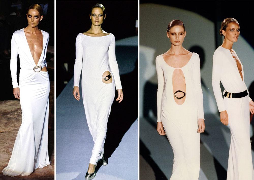 Những chiếc váy trắng cut out táo bạo Tom Ford thiết kế cho BST Gucci Thu Đông 2016