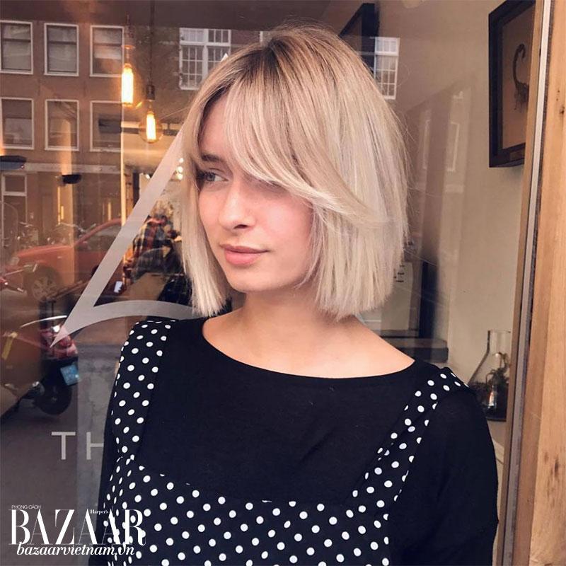 Cách cắt tóc mái đẹp cho mặt tròn