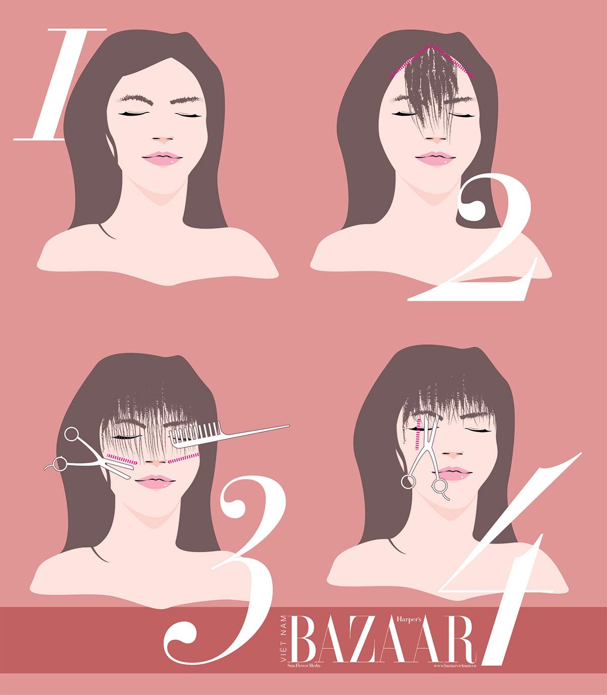 Cách tự cắt tóc mái tại nhà khi các salon đóng cửa 1