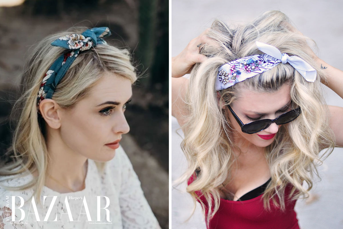 9 cách tạo kiểu tóc với khăn cho ngày tóc rối 4