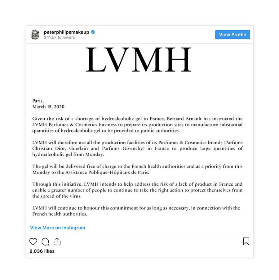 Tập đoàn LVMH dùng xưởng Givenchy, Dior làm nước rửa tay khô 1