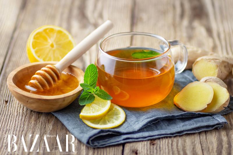 uống gì để giảm mỡ bụng nhanh nhất? trà gừng