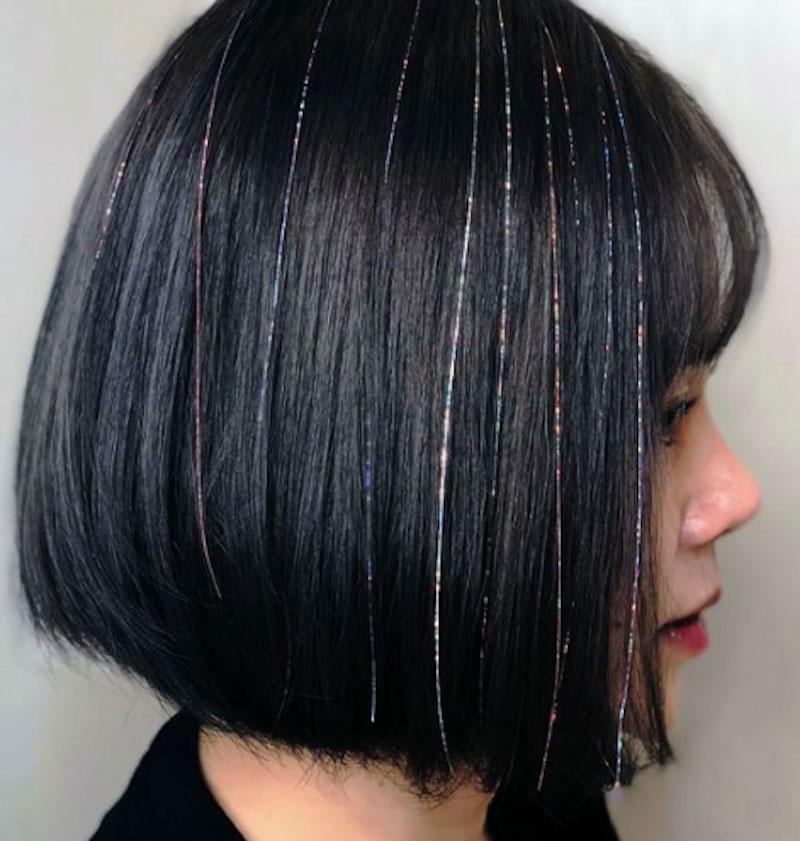 Làm mới mái tóc với xu hướng nối tóc kim tuyến 5
