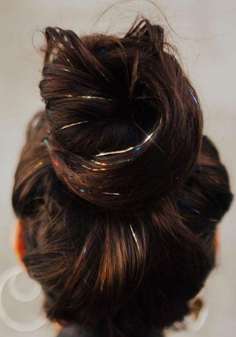 Làm mới mái tóc với xu hướng nối tóc kim tuyến 3