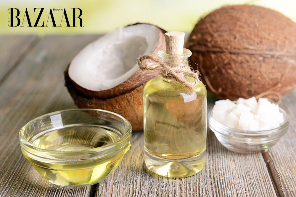 dầu dừa giúp trị sẹo sau thủy đậu