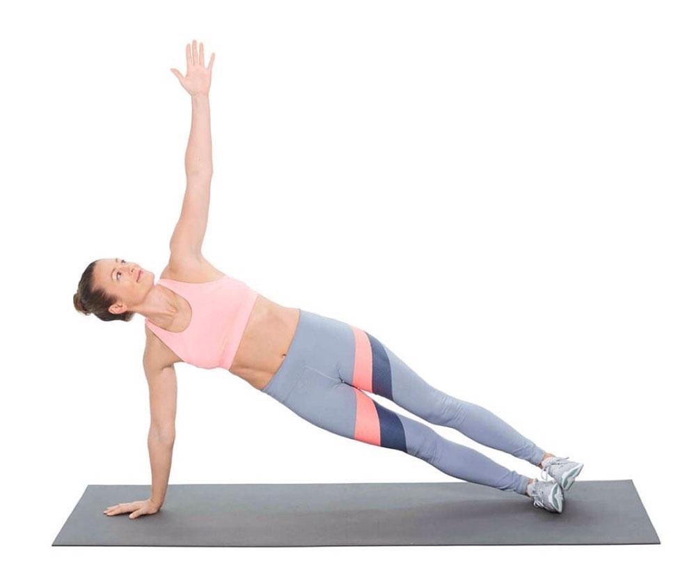 Bài tập plank nghiêng