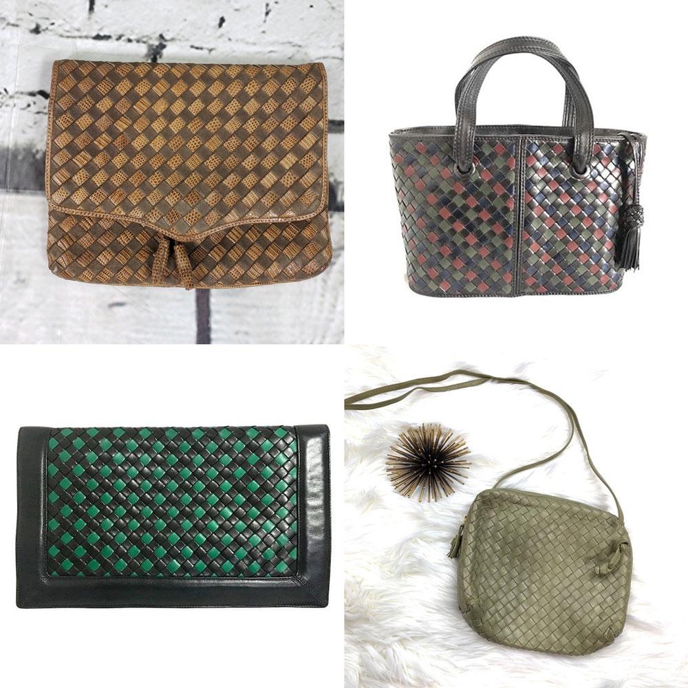 Túi Bottega Veneta có kiểu đan da thuộc Intrecciato vintage