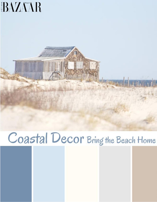 Các gam màu của phong cách coastal style