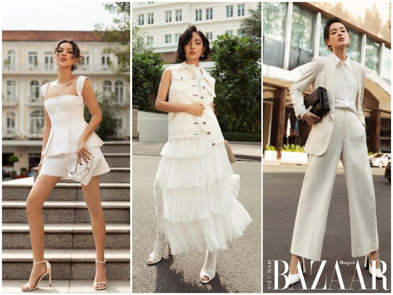 Châu Bùi, Khánh Linh, Tú Hảo cập nhật xu hướng màu trắng