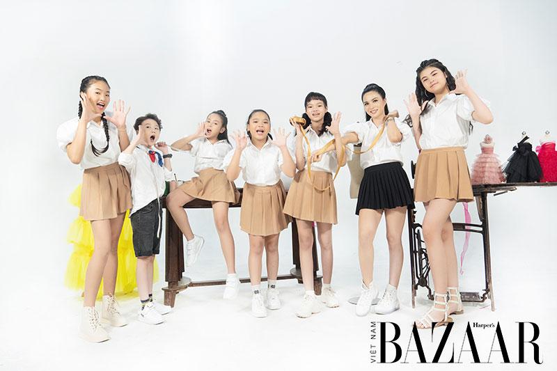 Đội hình của team Ruby Phạm sau khi Nhà thiết kế tương lai nhí tập 4 kết thúc