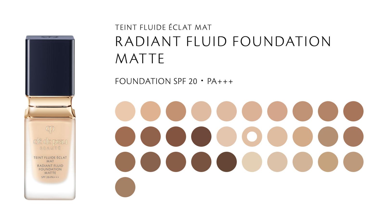 Kem nền dạng lì của Clé de Peau Beauté Radiant Fluid Foundation Matte
