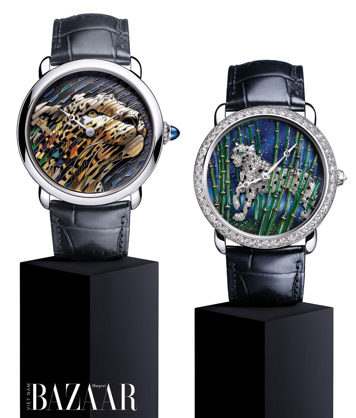 Hai mẫu đồng hồ Métiers d'Art Ronde Louis Cartier 2020