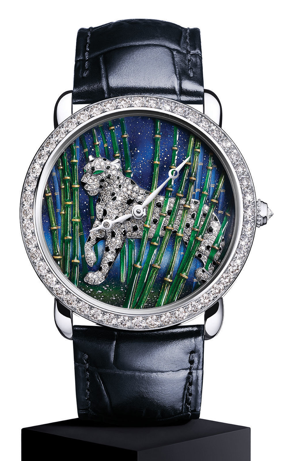 Đồng hồ Ronde Louis Cartier Enamel Filigree