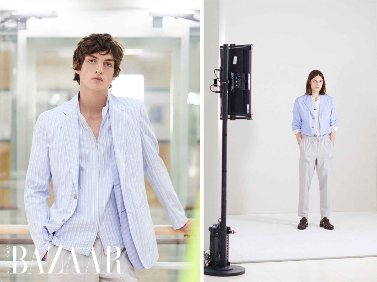 Áo sơ-mi nam trong BST Hermès Men Xuân Hè 2021