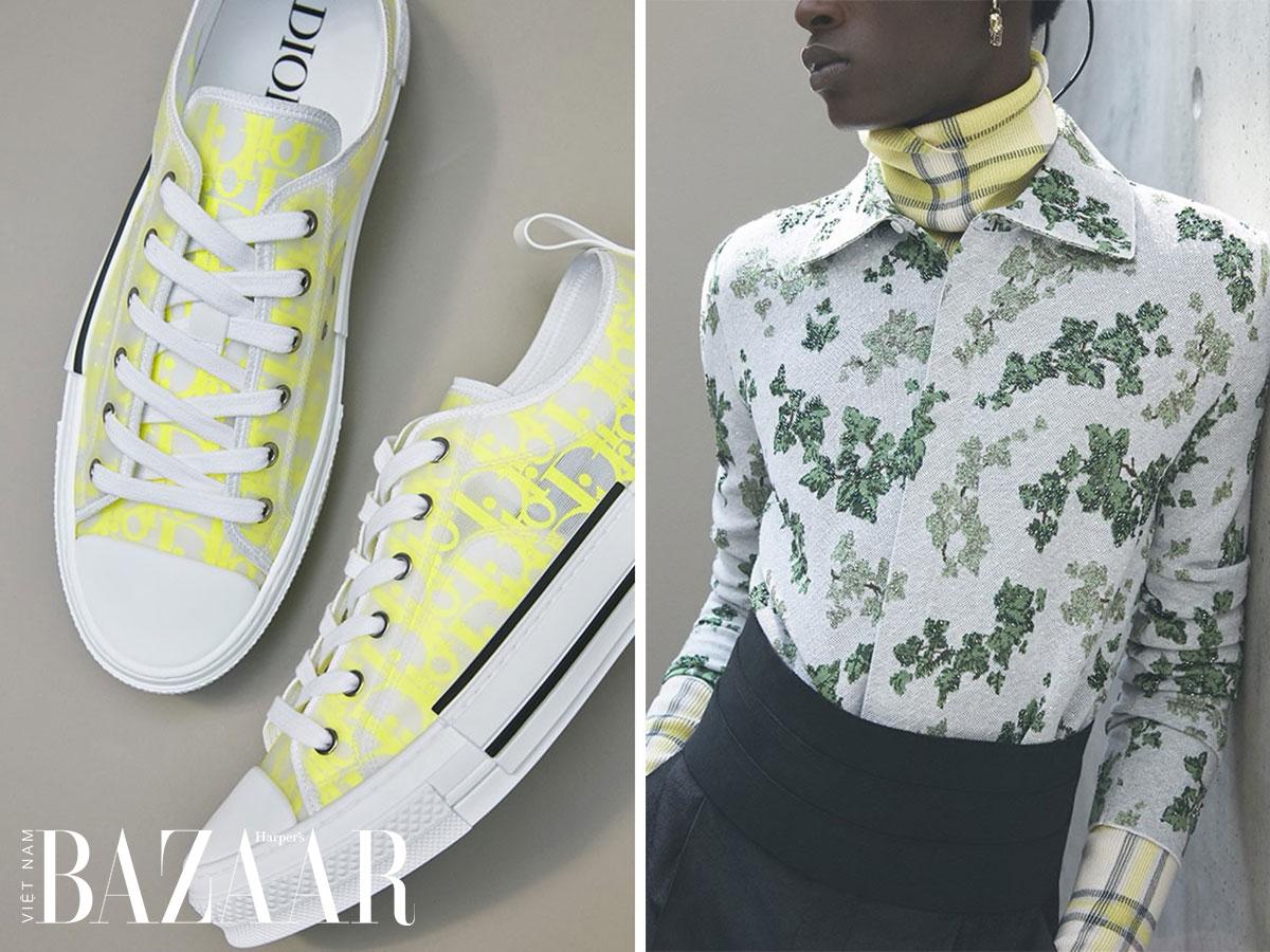 Màu vàng neon trong Dior Men Xuân Hè 2021
