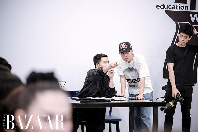 Êkíp NTK Ivan Trần tại buổi casting show IVAN 6