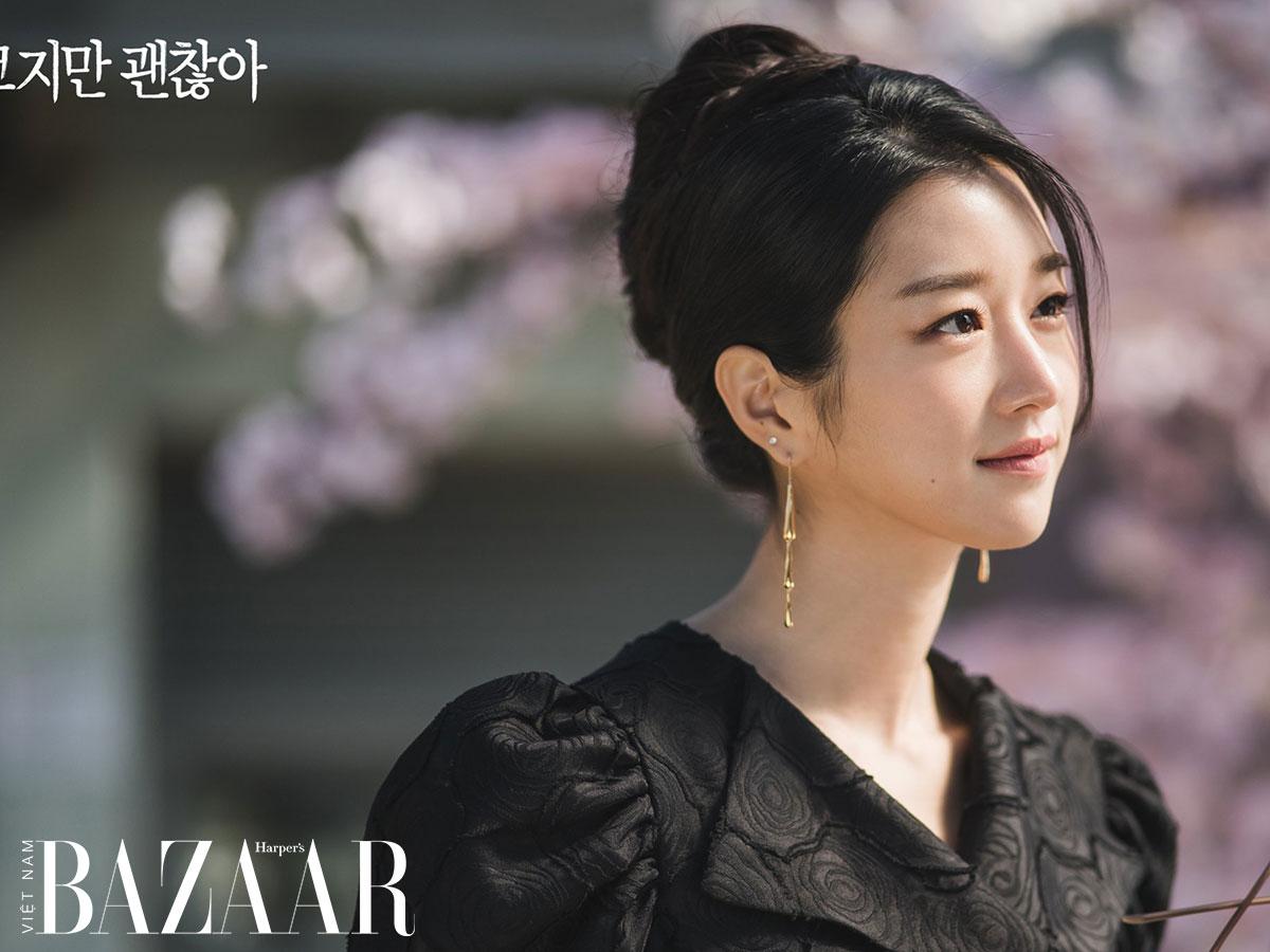 Nữ trang vàng của Seo Ye Ji: Bông tai vàng hình giọt nước