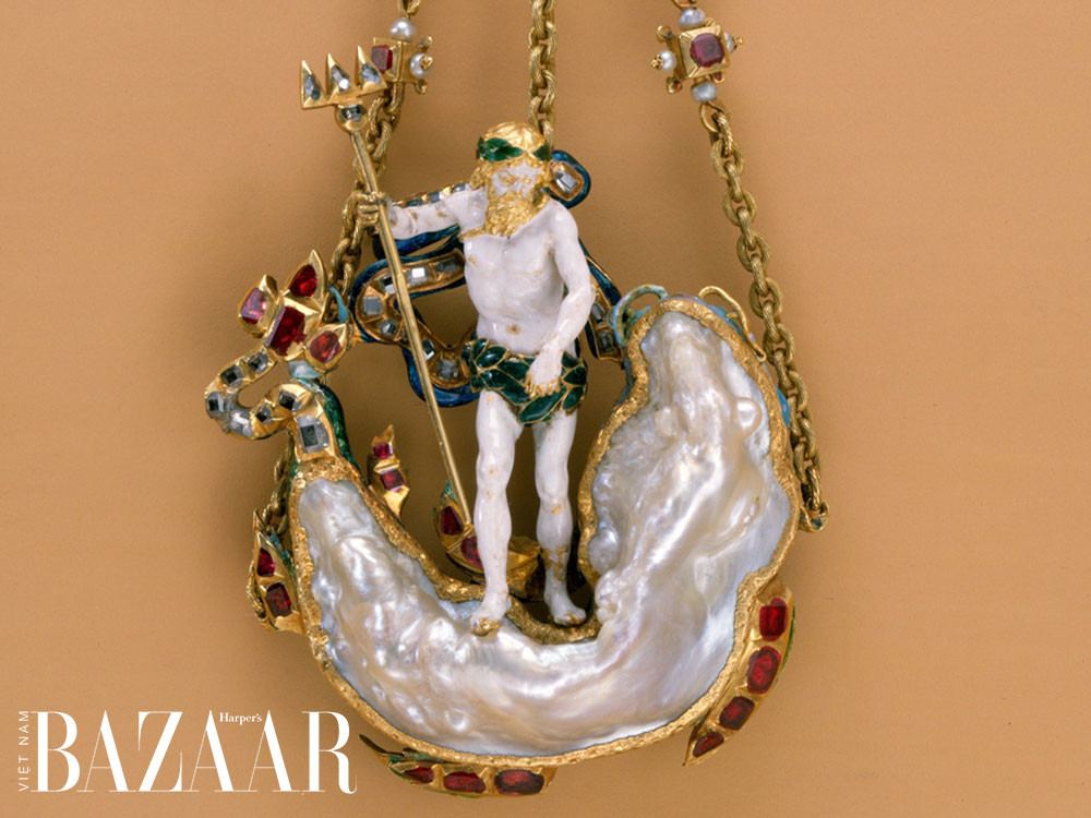 Trâm cài áo ngọc trai baroque thế kỷ 17