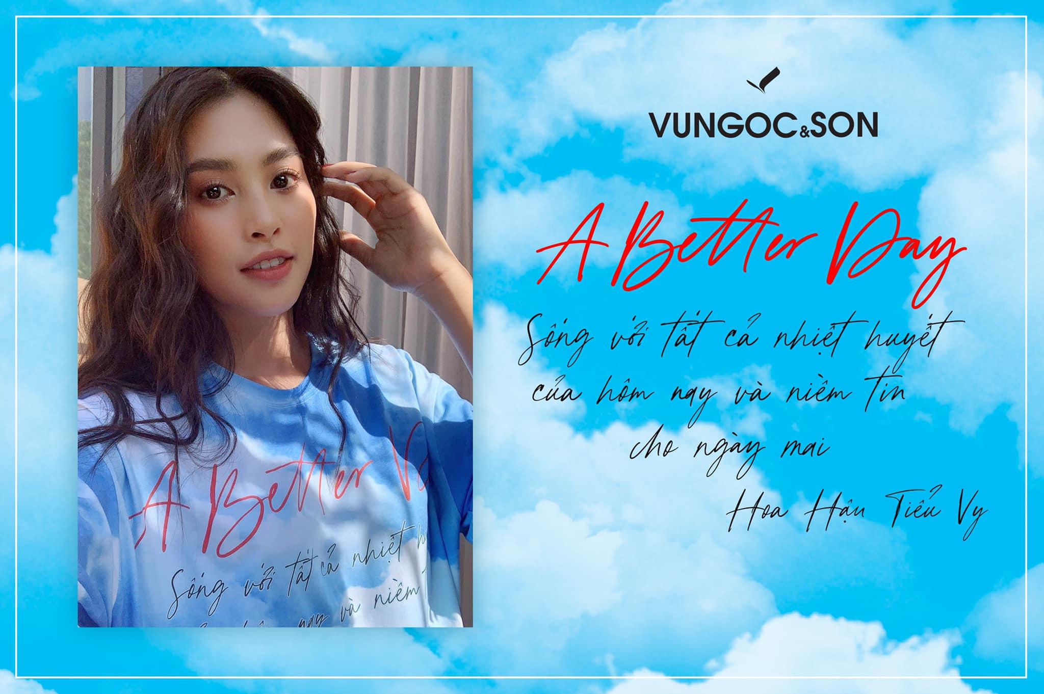 Hoa hậu Trần Tiểu Vy tham gia chiến dịch A Better Day VUNGOC&SON