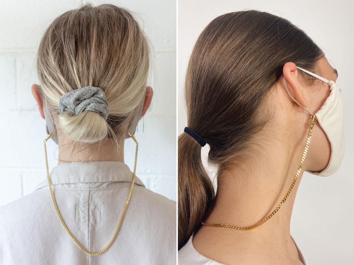 Khẩu trang thời trang với dây đeo