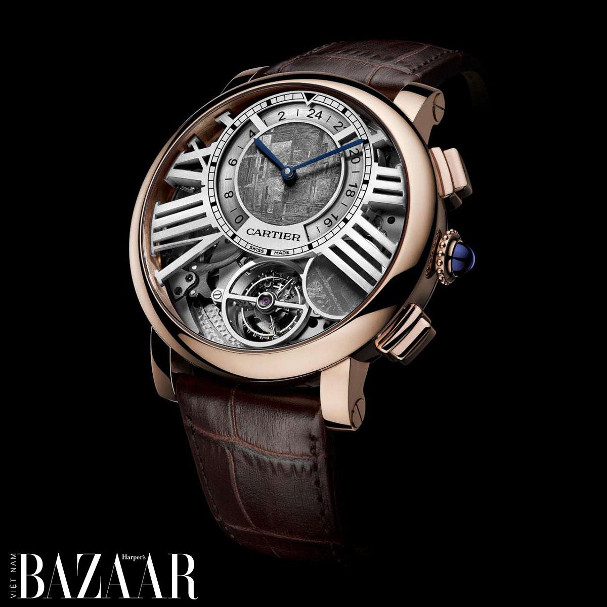 Đồng hồ mặt thiên thạch Cartier
