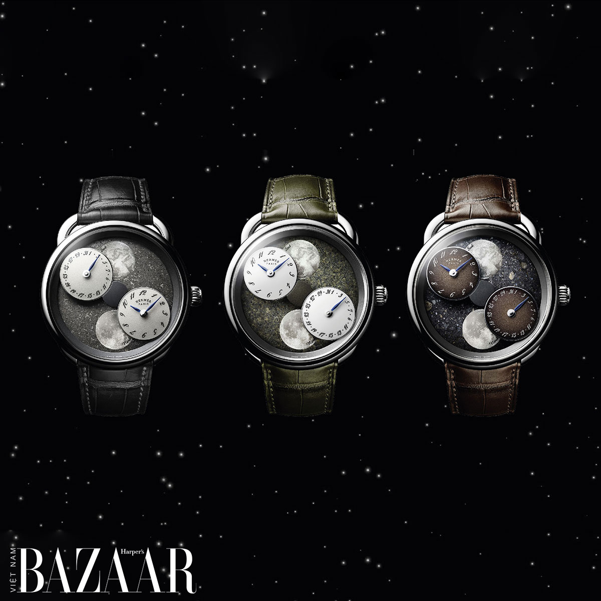 Đồng hồ mặt thiên thạch Hermès
