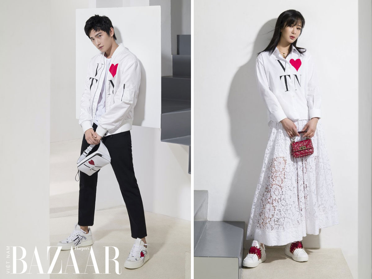 Dương Dương và Dương Tử diện đồ đôi cho chiến dịch ngày lễ Thất tịch 2020 của Valentino