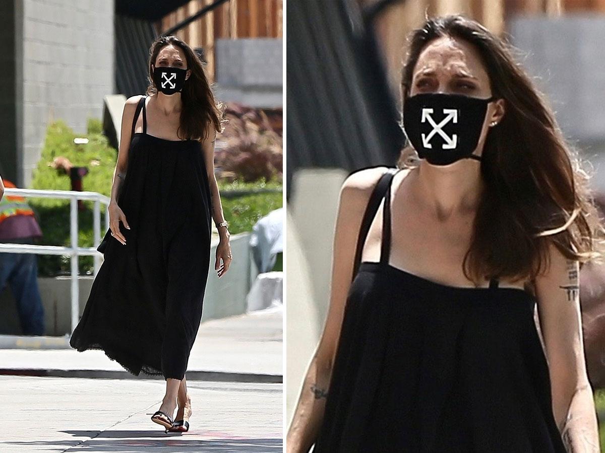 Thời trang khẩu trang của Angelina Jolie
