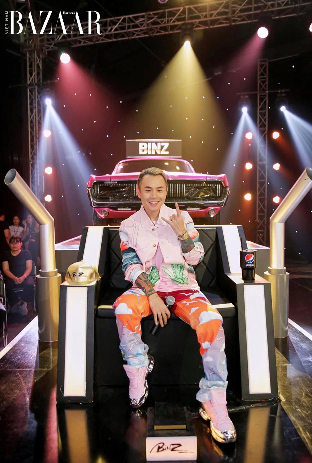 Thời trang huấn luyện viên Rap Việt: Binz