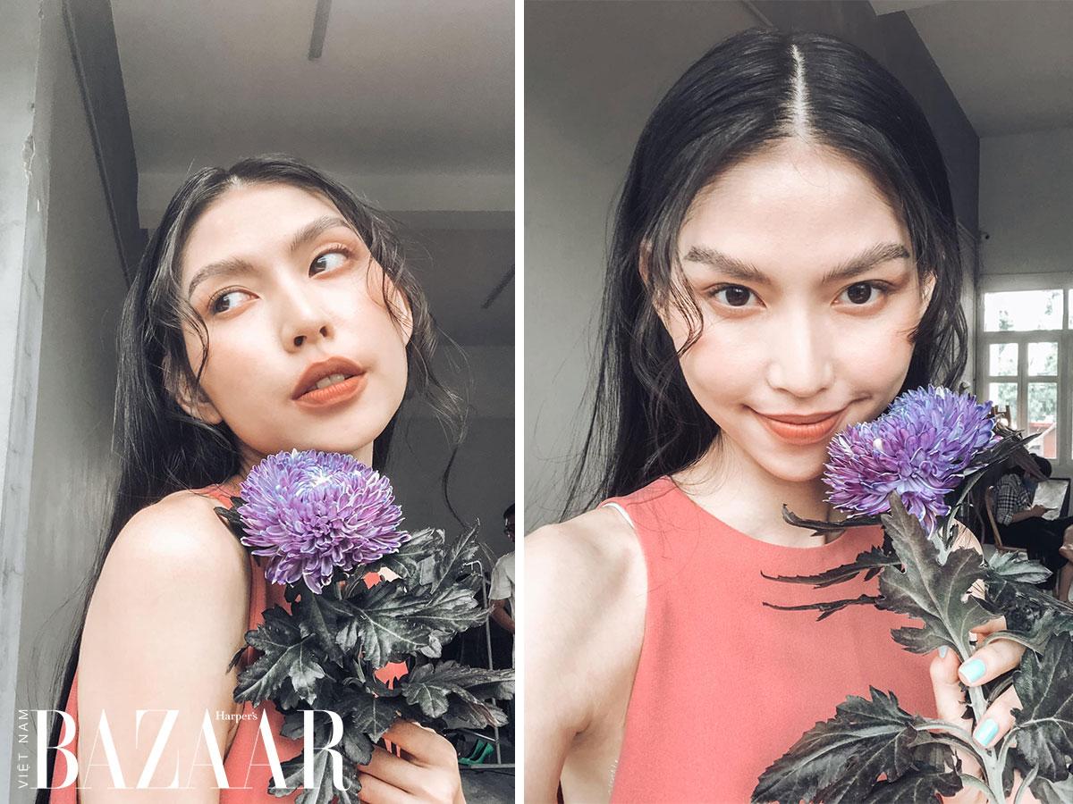 Người mẫu TyhD Thuỳ Dương chắc chắn là một fan của chương trình Rap Việt.
