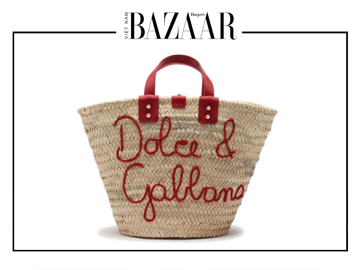 Xu hướng túi cói hè 2020: Dolce Gabbana