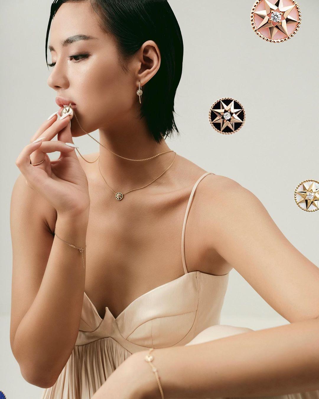 Khánh Linh tỏa sáng như một vì sao trong trang sức Dior Rose des Vents