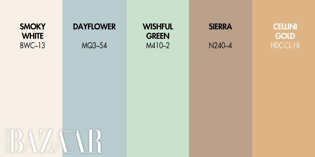 20 gam màu dẫn đầu xu hướng nội thất 2021
