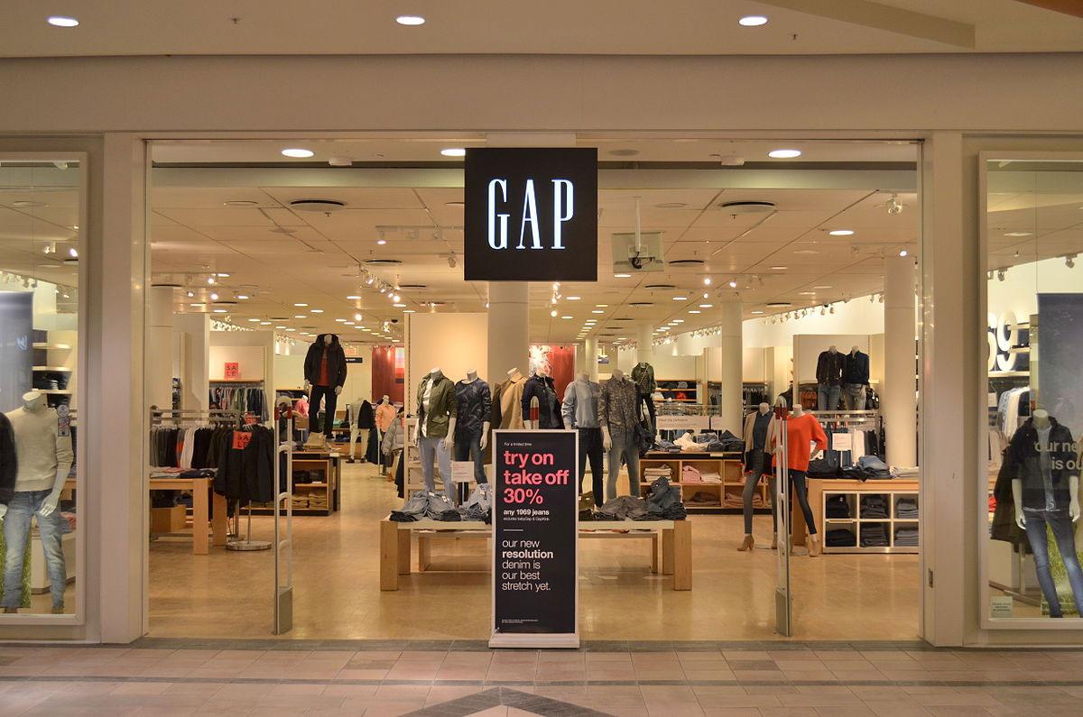 Cửa hàng Gap tại một trung tâm thương mại Mỹ. Ảnh: Raysonho/Wikicommons