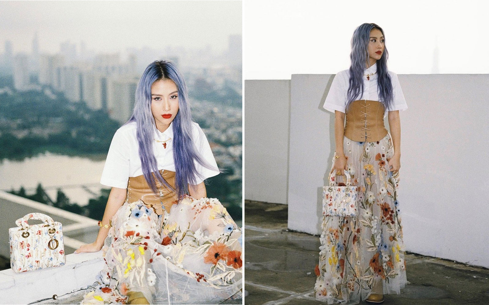 Quỳnh Anh Shyn mặc Dior Cruise 2021