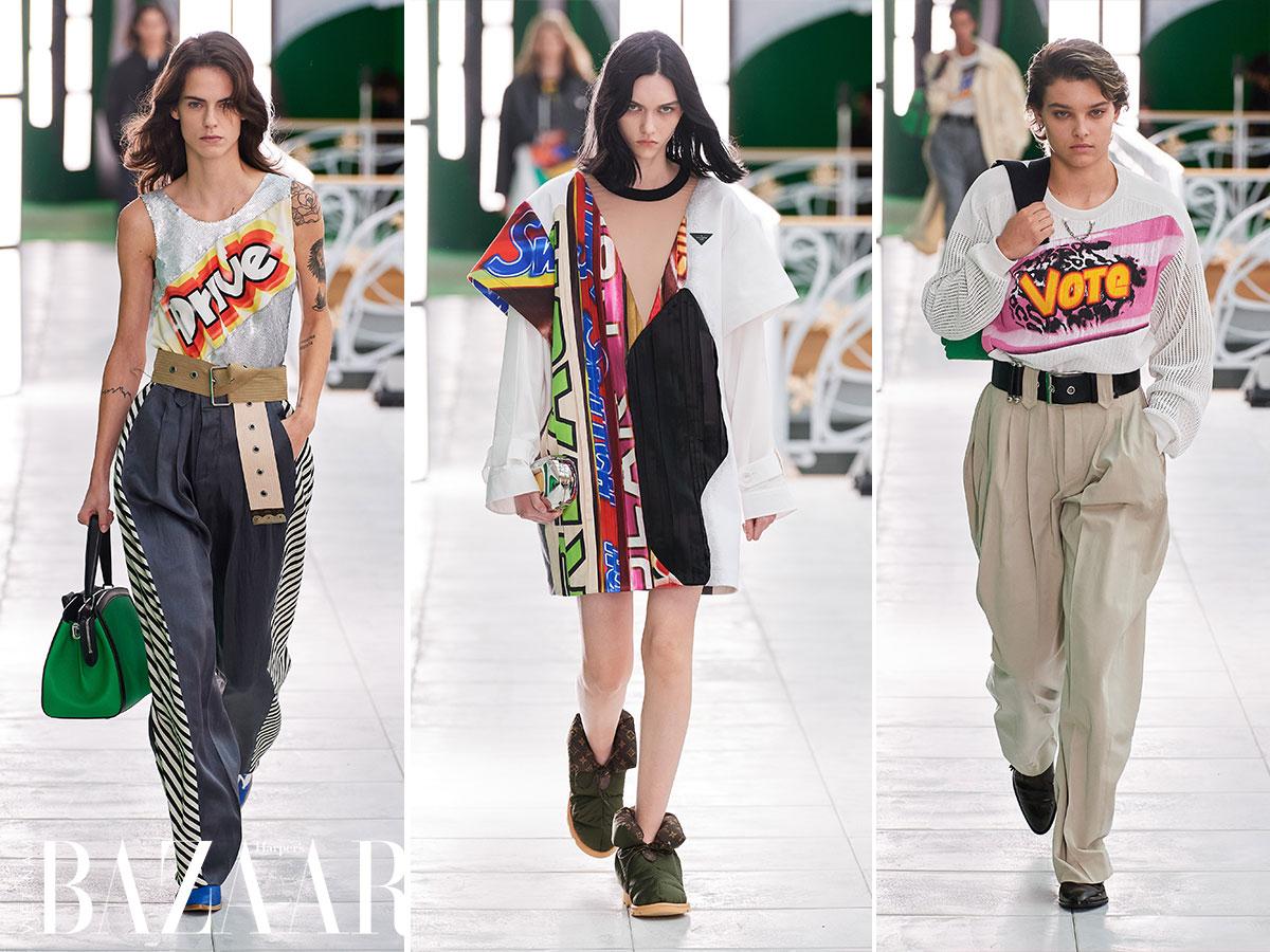 Louis Vuitton Xuân Hè 2021: Những khẩu hiệu Pop Art
