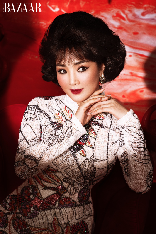 Giáng My hóa thân thành diva nhạc xưa trong BST áo dài Minh tinh của Bảo Bảo House