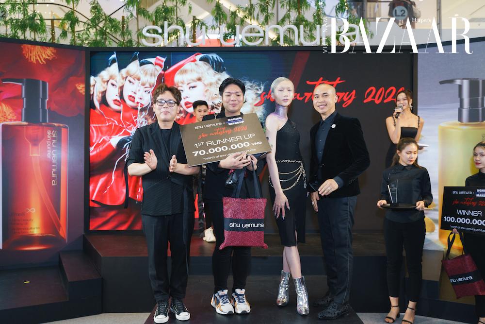 Ba nghệ sỹ trang điểm thắng giải cuộc thi Shu Artistry của Shu Uemura 2
