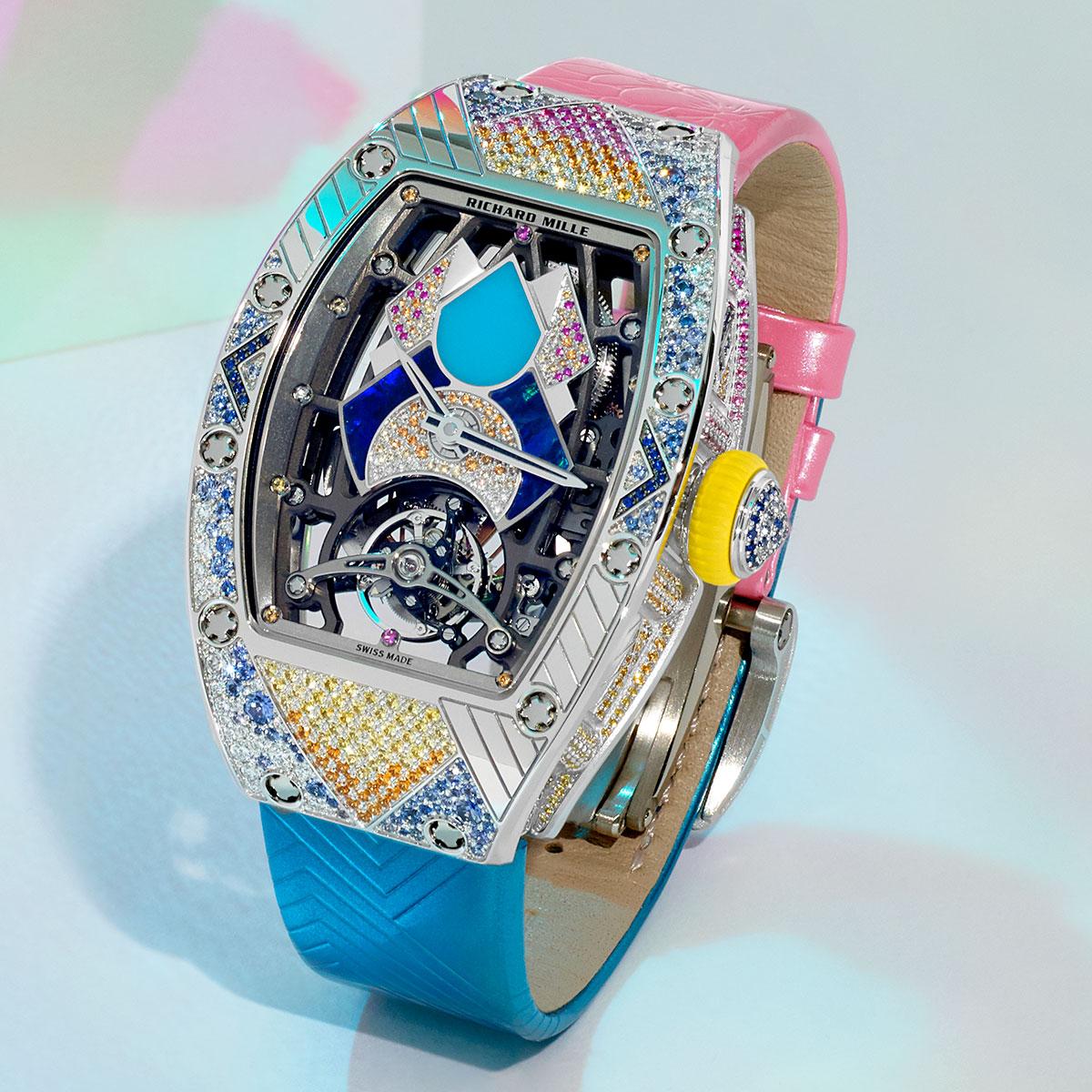Đồng hồ RM 71-02 Automatic Tourbillon Talisman: Chiếc bùa may mắn sắc cầu vồng từ Richard Mille
