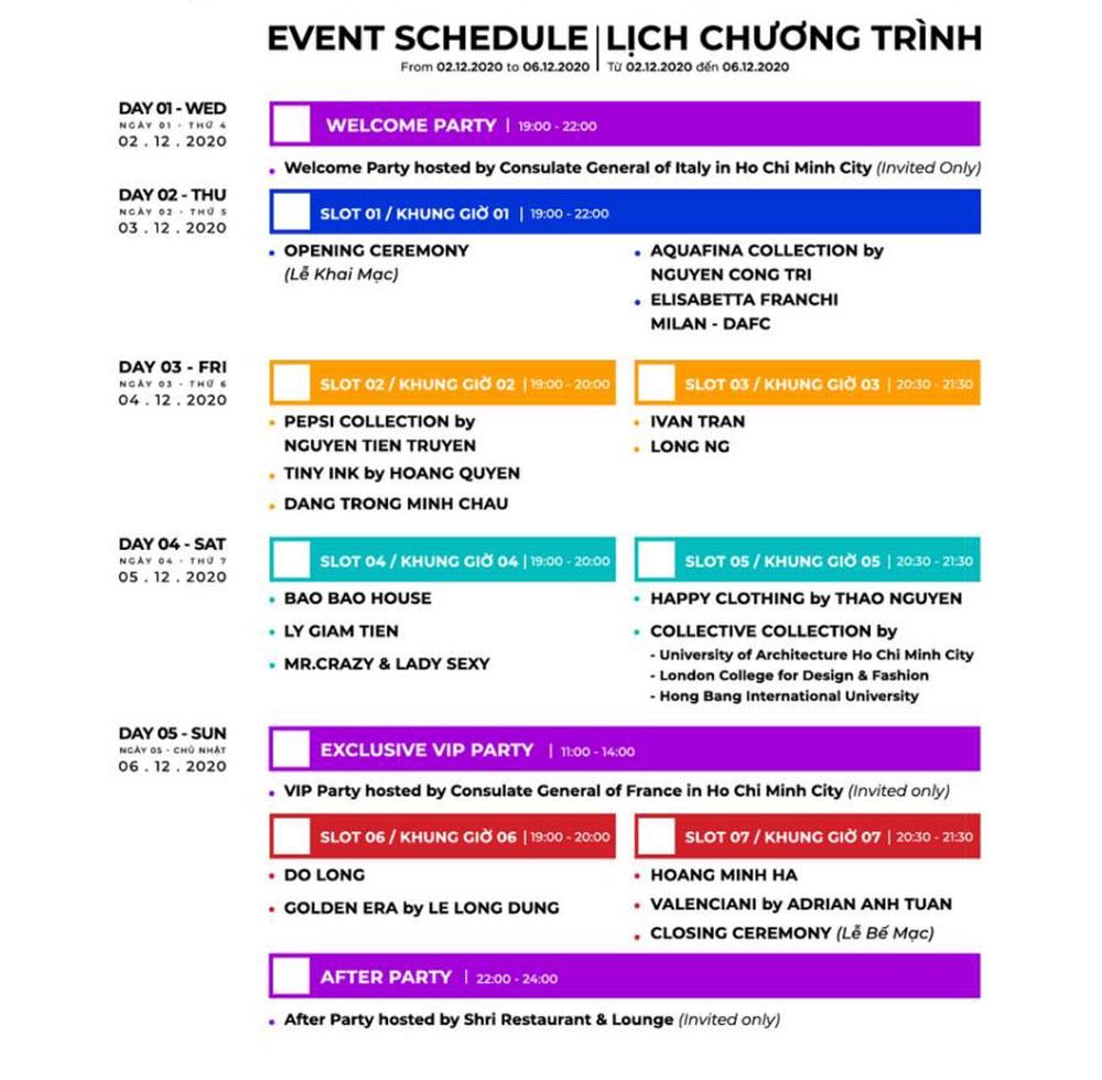 Aquafina Vietnam International Fashion Week (AVIFW 2020) công bố lịch diễn chính thức