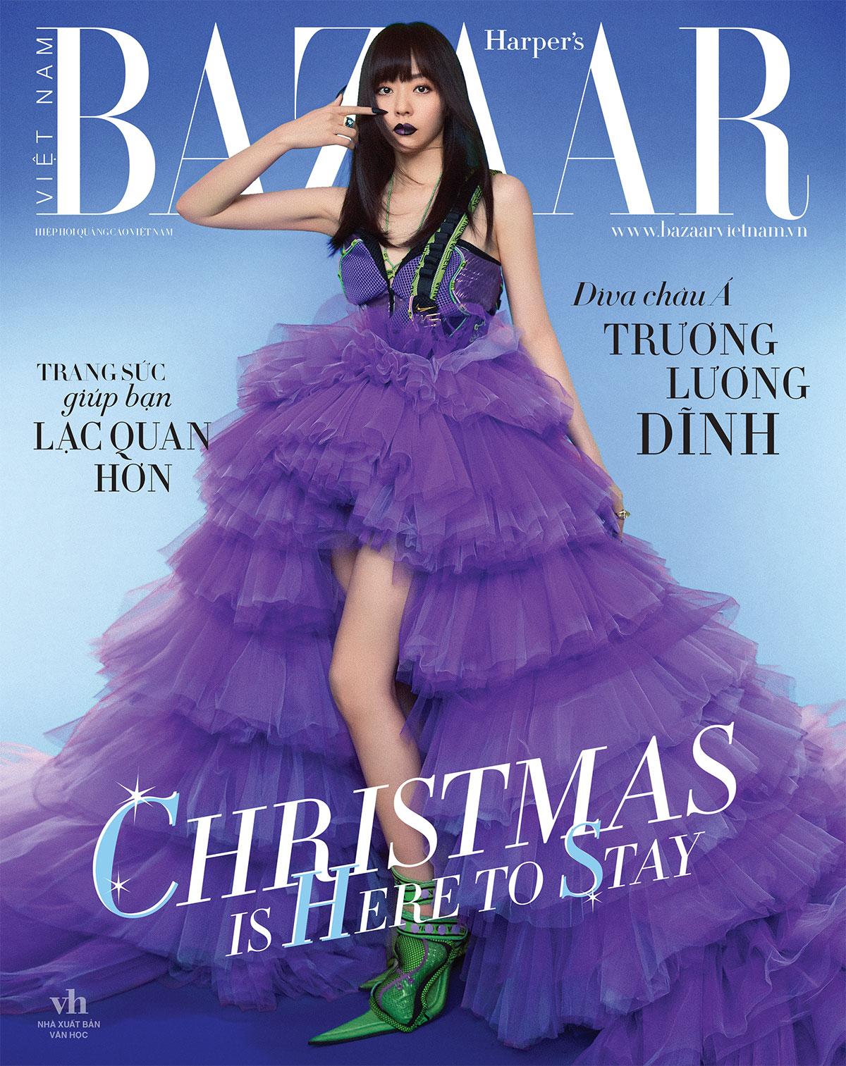 Trương Lương Dĩnh trên bìa Harper's Bazaar Việt Nam 12-2020