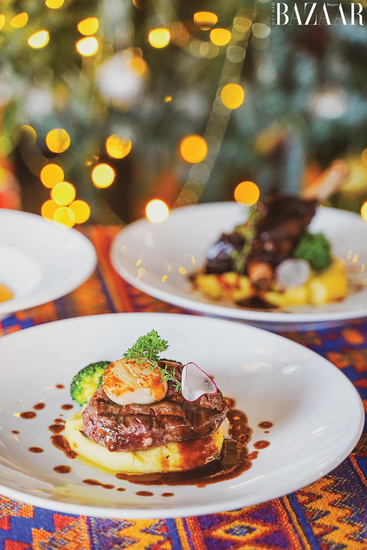 Amun Restaurant & Lounge có menu ẩm thực theo phong cách Địa Trung Hải