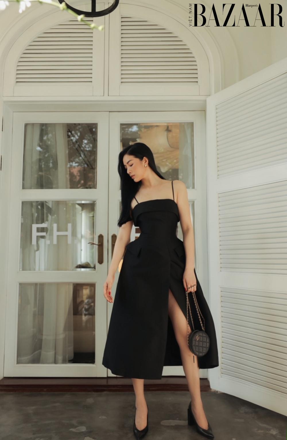 Mai Thanh Hà khoe eo thon trong đầm LBD, tiết lộ bí quyết giữ dáng 2