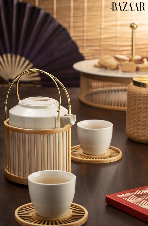 Bộ ấm trà An Yên sắc vàng, Hanoia