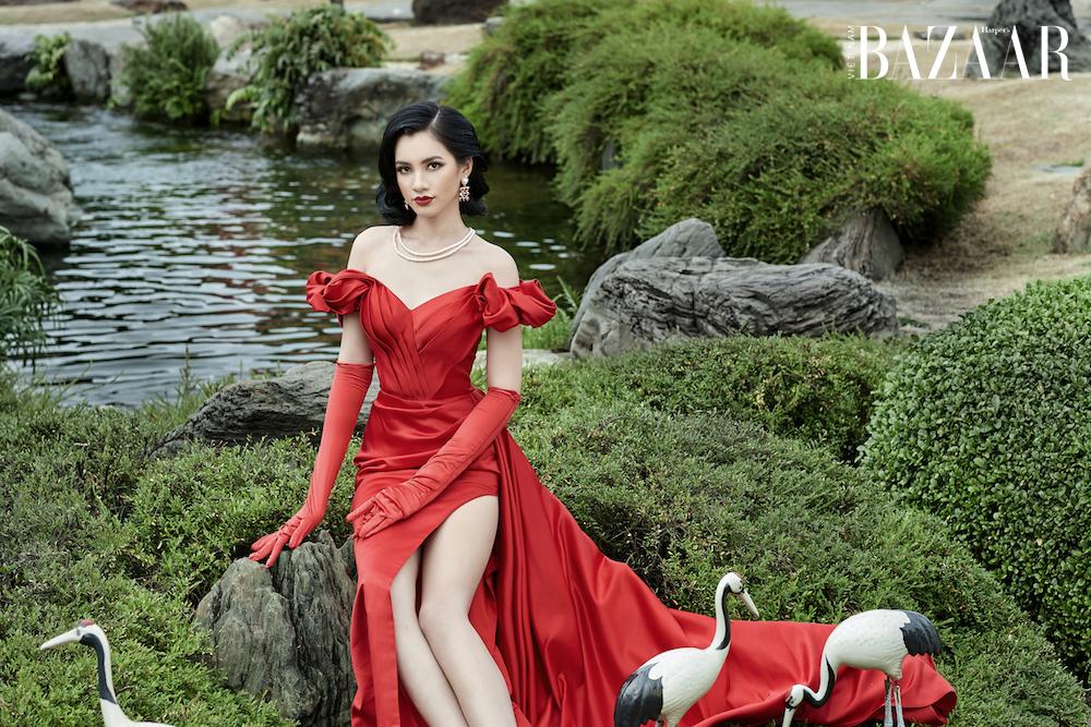 Cẩm Đan - bản sao Lisa Black Pink quý phái trong thiết kế của Đức Vincie