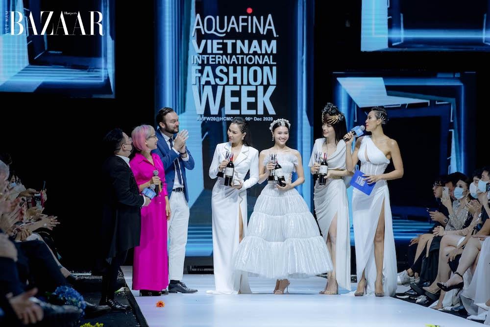 Lan Ngọc, Phương Nga, Quỳnh Thư cùng đạt giải Best Dressed khi chọn đầm Đỗ Long tại AVIFW 2020