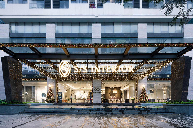 Mặt tiền Showroom S/S Interior tại tòa nhà Hoàng Cầu Skyline, 36 Hoàng Cầu, Đống Đa, Hà Nội