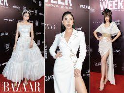 Lan Ngọc, Phương Nga, Quỳnh Thư cùng đạt giải Best Dressed khi chọn đầm Đỗ Long